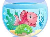 Риболовен аквариум пъзел - решаване на пъзел с рибен аквариум