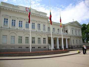 Vilnius, Litouwen - Litouws parlementsgebouw.