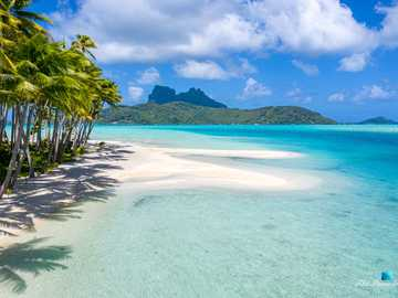Pacyficzne niebo - Bora Bora Polinezja Niebo na Ziemi