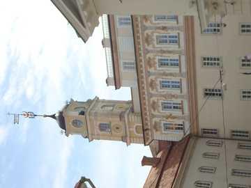 Vilnius, Litouwen - Een van de gebouwen van de universiteit van Vilnius.