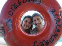 abu and mamita - mommy grandmother beach sand boat dumon