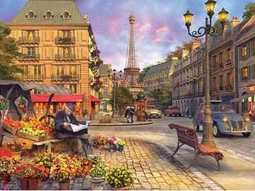 Paryskie klimaty. - Układanka: paryskie klimaty.