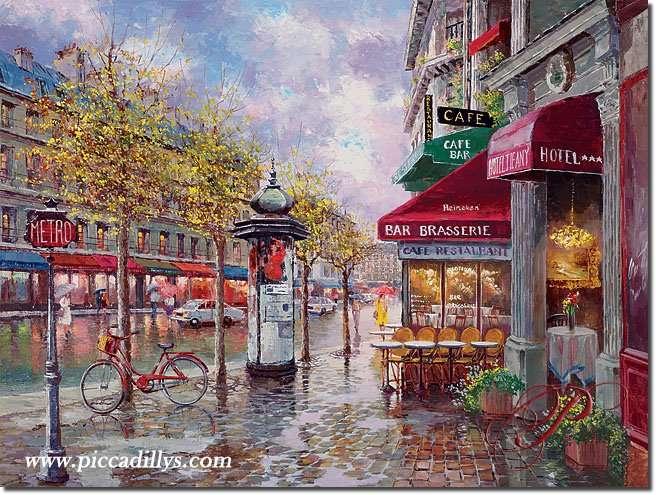 Jour de pluie à Paris - Jour de pluie à Paris - Par Sam Park (12×9)