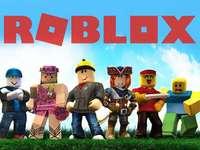 Puzzle pentru copii Roblox - Puzzle creator care trebuie realizat de copii datorită numărului de piese selectate