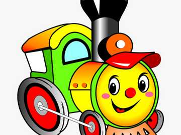 Easy Train Puzzle - Complete this simple puzzle to discover a cute train picture! Choo Choo!