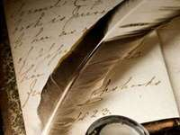 Le stylo et l'encrier - la plume de l'écrivain qui écrit les paroles sages pour qu'elles restent pour la prochai