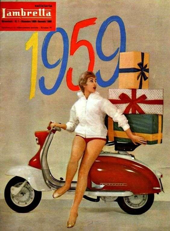 Lambretta reklama - 1959 puzzle