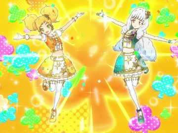 Breloque Star Pop (Duo) - Pop 的 Pop 型 魅力 秀。 服裝 : Orange Shine Stars Coord 、 Rouen Shine Stars Coord。