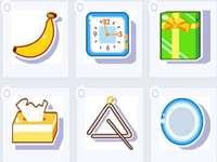 banán hodiny dárek tkáň trojúhelník deska - lmnop qrstuvwxyz lmnop