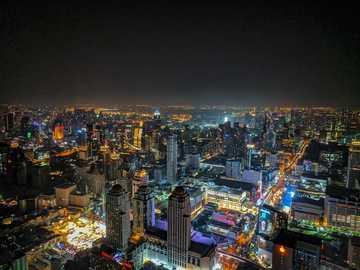 City at night - cityscape at night time. Baiyoke Tower 2, Khwaeng Thanon Phaya Thai, Khet Ratchathewi, Krung Thep Ma