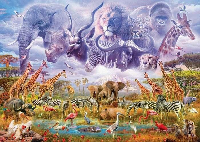 ANIMALES EN EL ABREVADERO. - Juegos Gratis Online en Puzzle Factory