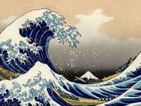gigantyczna fala hokusai