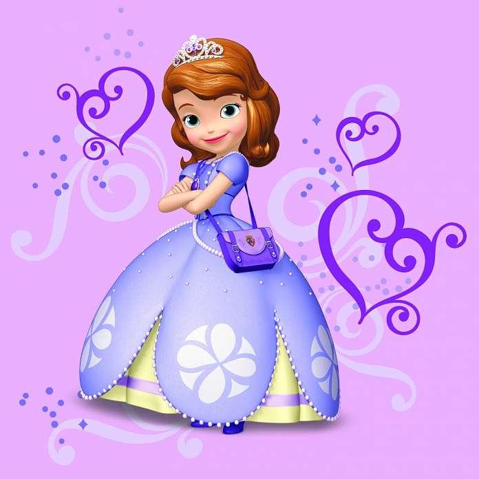 Hercegnő - Sofia hercegnő áll egy lila háttér (3×3)
