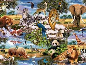 Animals. - Puzzle for kids: animals.