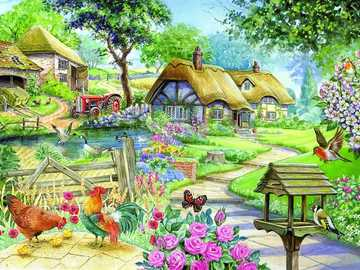 Painted village. - A painted English village.
