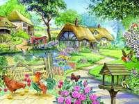 Village peint.