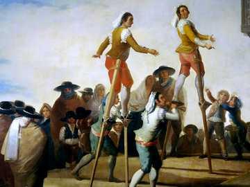 Szczudła - Obraz Francisco de Goya