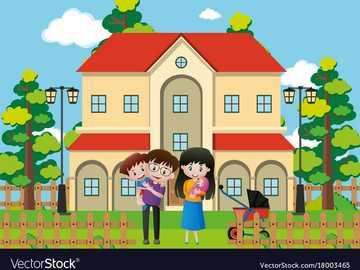 La bella casa. - Unisciti ai pezzi del puzzle e completa l'immagine.