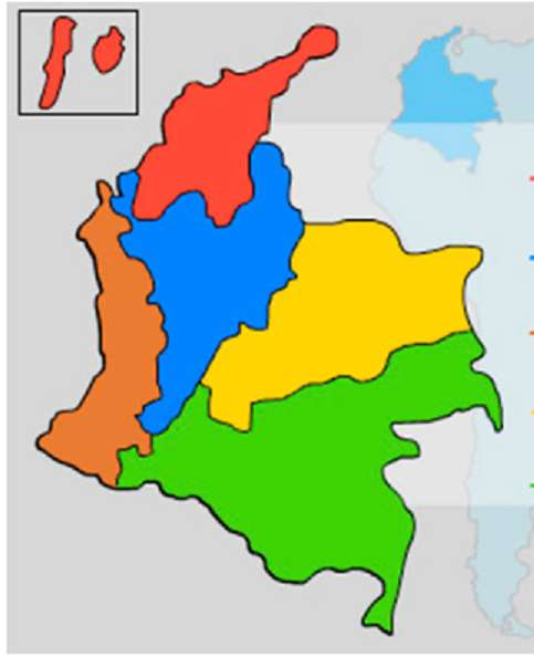 PUZZILE DIDACTICE DIN REGIUNILE COLOMBIEI - REGIUNILE COLOMBIE JUCĂ ȘI ÎNVĂȚĂ (6×7)