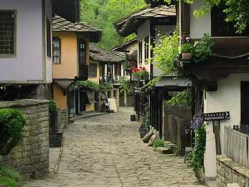 ancient street of crafts - ancient street of crafts - preserved old houses