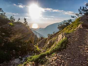 holiday postcard - Greece - Olympus - Sun ----