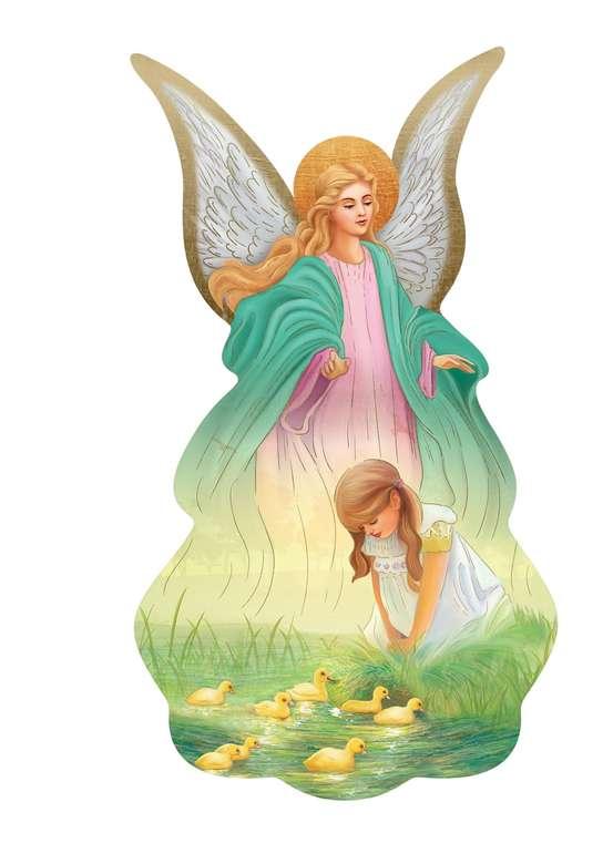 niña ángel de la guarda