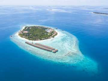 Well Look at that - bird's-eye view photography of islet. Maldives