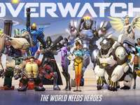 Overwatch Puzzle - Put the puzzle together with the Overwatch heroes!