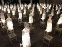 Ataraxia av Eugenio Cuttica - Upplysta skulpturer i harts