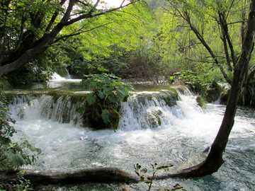 Waterfall in Croatia - Waterfall in Croatia
