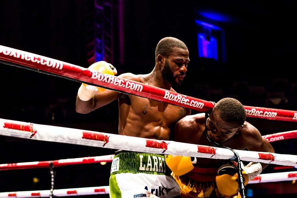 twee mannen in boksring - Boxers - Larry Ekundayo tegen Joseph Lamptey London, Verenigd Koninkrijk  Gemaakt door Cashino NDT #CNDTPhotography. Londen, Verenigd Koninkrijk (7×5)