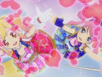 Charme mignon étoile (duo) - 基本 的 Mignon 型 魅力 秀。 服裝 : Coord de la marche rose 、 Coord de la marche bleue�