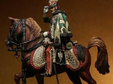 Husar on horseback - Napoleonic Husar on horseback