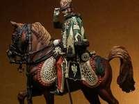 Husar a cavalo - Husar Napoleônico a cavalo
