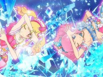 Charme Star Cool (Duo) - 基本 的 Cool 型 魅力 秀。 服裝 : Girly Island Coord 、 Sky Island Coord。