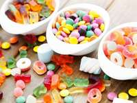 sweets on plates - there are many sweets of different types