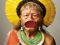 Chef indigène Kayapó - Brésil