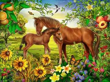 Horses .. - Jigsaw puzzle. Animals. Horses.