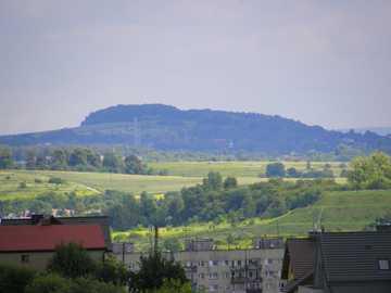 Vista de Silesia - Vista desde el Montículo de Liberación en Piekary Śląskie