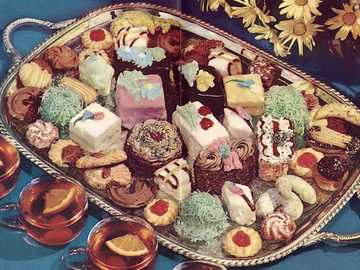Sweet Treats - This Is A Photo Of A Plate Of Sweet Treats From The 1970s.