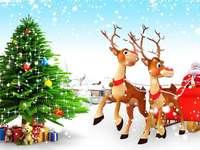 BOOM RENDIER - Kerstmis, kerstboom, geschenken, kerstman, rendieren | Gelukkig ...