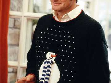 Mark Darcy - escena navideña y el suéter Mark en Bridget Jones