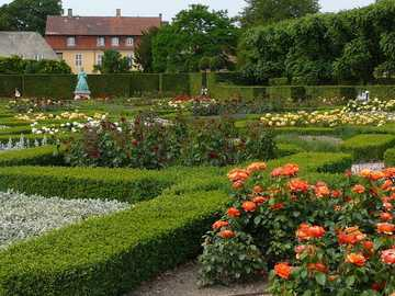 Ogród Różany - Dania Rosenborg Castle