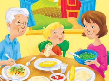 Lunch with the grandparents - Lunch with the grandparents