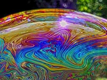 Bańka mydlana - opalizujący kolor --