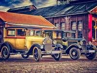 carros velhos - Carros velhos. Rali com carros antigos.