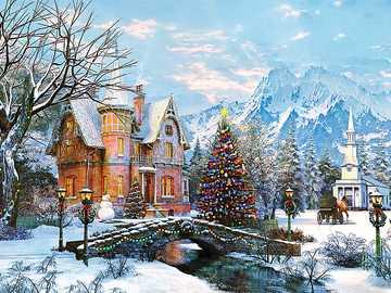 WINTER LANDSCAPE - Christmas, winter landscape