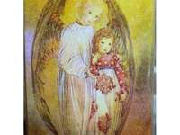 THE GIRL WITH AN ANGEL. - Guardian Angel with a girl