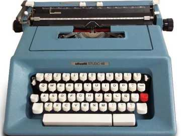 Typewriter Axel Puzzle - It is to solve a puzzle from a typewriter