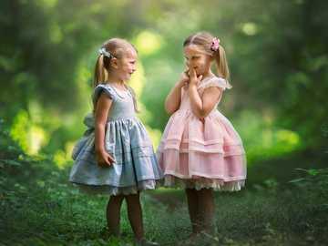 DUAS MENINAS - Duas garotas na floresta
